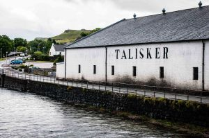 Talisker is the only single malt Scotch whisky distillery on the Isle of Skye and produces a fine, peppery smokey spirit.