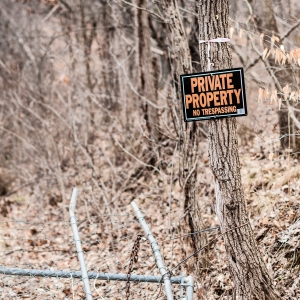Private Property, No Tresspassing signs are almost as common as the hardwood trees which they are often nailed to in Tennessee.