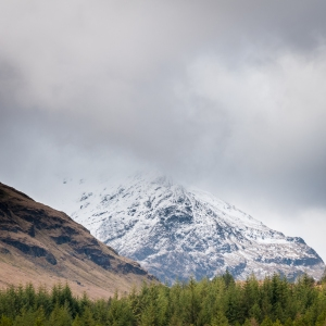 Plenty of snow still to be found nearly two months into spring on the summits which surround the West Highland Way.