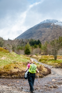Meall Buidhe shows us the way into Tyndrum along the West Highland Way.