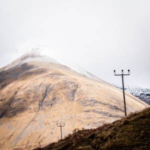 The very conical summit of Beinn Dorain as seen from the West Highland Way.