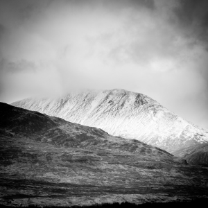 Plenty of snow to be found on the high hills above the West Highland Way.
