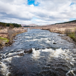 Unseen scenery from the Bridge of Orchy.