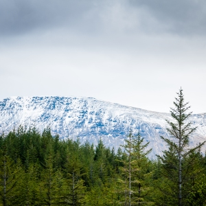 More late spring snow on the hills above the West Highland Way.