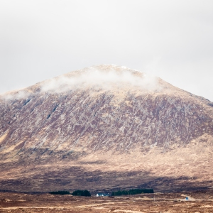 Beinn a' Chrulaiste towers above the Kingshouse Hotel at the head of Glen Coe.