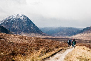 Perhaps Scotland's most photographed mountain, Buachaille Etive Mor marks the head of Glen Coe for hikers on the West Highland Way.