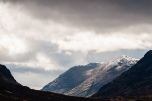 Glen Coe is a place of harsh but beautiful scenery and weather.