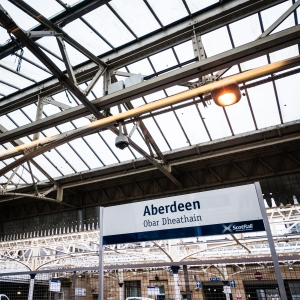 Aberdeen to Glasgow to Milngavie by train gets us started.