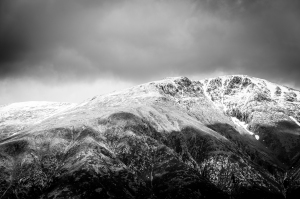 Almost two months into spring and the summit of Ben Nevis is wearing a fresh coat of snow.