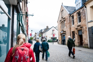 The Middle Street/Station Square area of Fort William is pedestrianized and full of shopping and dining options.