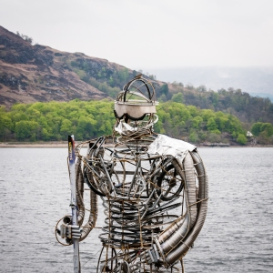 Ben Mhor, a super cool sculpture on the waterfront in Fort William.