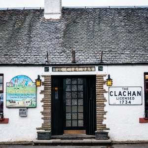 The Clachan in Drymen, Scotland, serving ale and grub since 1734.