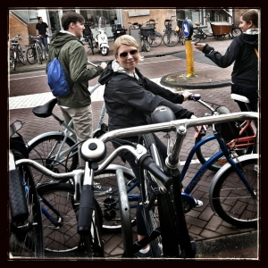 My cycle posse rollin up through Amsterdam yo!