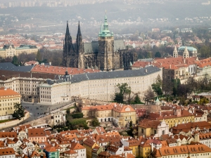 Saint Vitus Cathedral may be the obvious focal point but it represents only a small portion of the massive Prague Castle complex.
