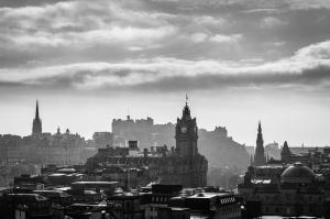 Edinburgh basking in backlit glory.