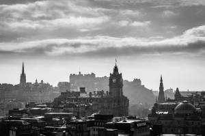 Edinburgh basking in backlit glory.