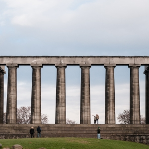 The National Monument - aka the Acropolis - sits unfinished atop Calton Hill.