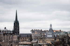 Great views of Edinburgh from the rooftop of the National Museum of Scotland.