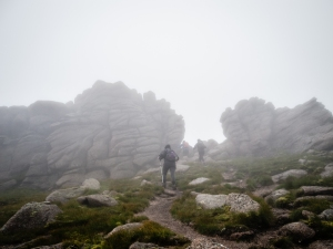 Approaching the granite tors atop Ben Avon.