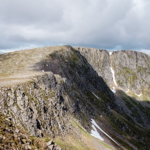 The great northern corrie of Lochnagar, our first mountain of the day.