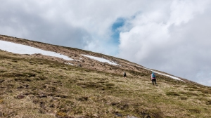 Find your way through the bogs and up to the summit of Carn an t-Sagairt Mor.