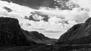 Black and white Bealach na Ba.