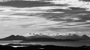 Stunning views across to Skye from the top of the pass.