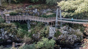 Bridge over the Black Water at Rogie Falls.